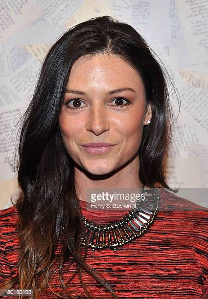 April Hennig attends the Alice Olivia show during Spring 2014 MercedesBenz Fashion Week at Highline Stages on September 9 2013 in New York City