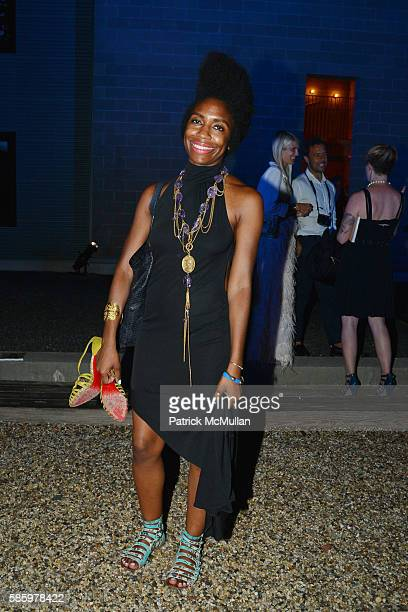 April Hunt attends The 23rd Annual Watermill Center Summer Benefit Auction at The Watermill Center on July 30 2016 in Water Mill NY