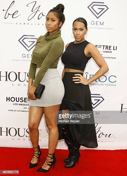 April Jones and Nia Riley attend House Of CB House Of Tre Li Pre Grammy Party on February 7 2015 in Los Angeles California