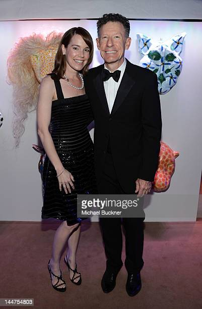 April Kimble and Lyle Lovett attend the Haiti Carnival in Cannes Benefitting J/P HRO Artists for Peace and Justice Happy Hearts Fund Presented By...