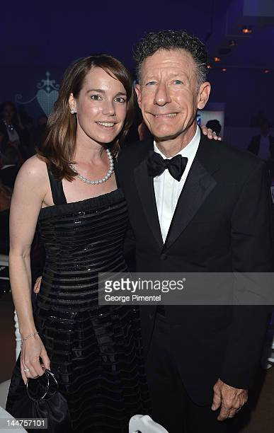 April Kimble and Lyle Lovett attends the Haiti Carnival in Cannes Benefitting J/P HRO Artists for Peace and Justice Happy Hearts Fund Presented By...