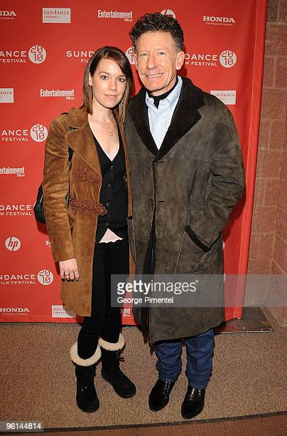 April Kimble and musician Lyle Lovett attend The Dry Land premiere during the 2010 Sundance Film Festival at Eccles Center Theatre on January 24 2010...