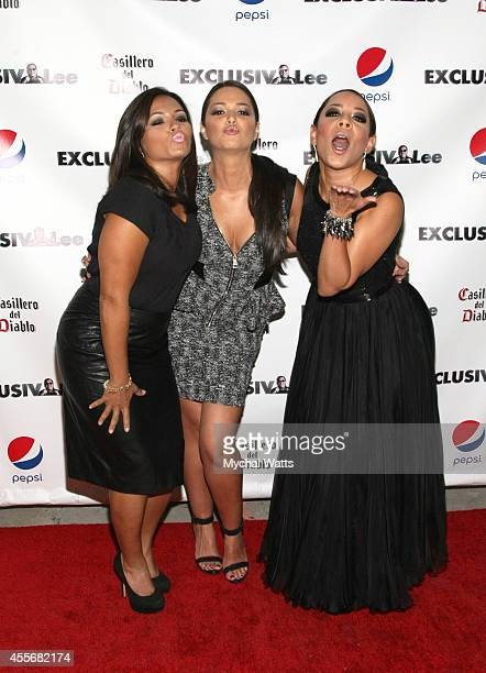 April Lee Hernandez Actress Paula Garces and Actress Selenis Levya attends the Exclusivleecom Launch Party>> at Stray Kat Gallery on September 18...