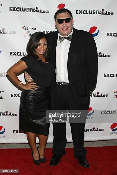 April Lee Hernandez and Founder Lee Hernandez attends the Exclusivleecom Launch Party>> at Stray Kat Gallery on September 18 2014 in New York City