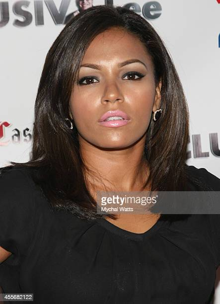 April Lee Hernandez attends the Exclusivleecom Launch Party>> at Stray Kat Gallery on September 18 2014 in New York City
