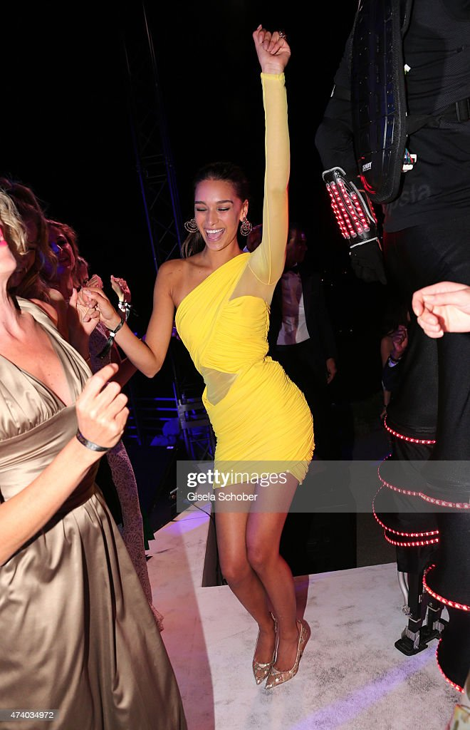 April Love Geary ( girlfriend of Robin Thicke ) during the De Grisogono party during the 68th annual Cannes Film Festival on May 19, 2015 in Cap d'Antibes, France.