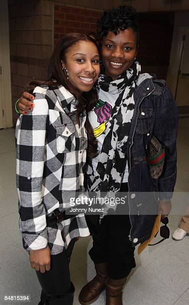 April McDaniel and Carline Balan attend the Sprite Green Instrument Donation on February 14 2009 in Mesa Arizona