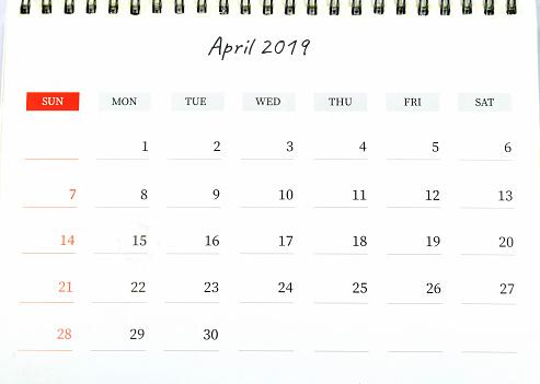 April Month Calendar - gettyimageskorea