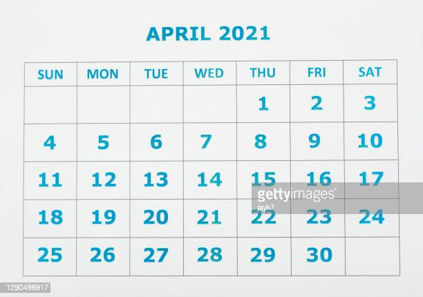 april month calendar - 四月 ストックフォトと画像