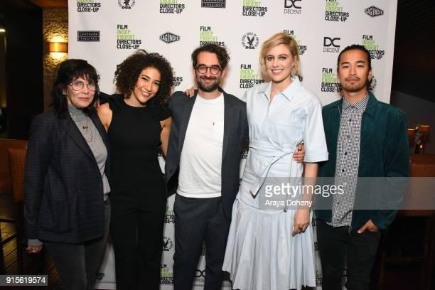 April Napier Marielle Scott Jay Duplass Greta Gerwig and Jordan Rodrigues attend the Film Independent hosts Directors CloseUp Screening of 'Lady...