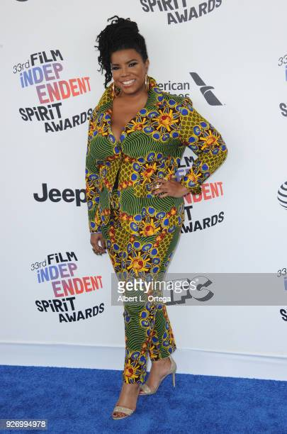 April Reign of #OscarsSoWhite arrives for the 2018 Film Independent Spirit Awards on March 3 2018 in Santa Monica California