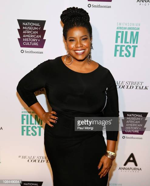 April Riegn attends the If Beale Street Could Talk premiere at National Air and Space Museum on October 27 2018 in Washington DC