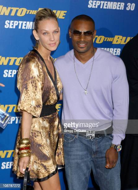 April Roomet and Tyson Beckford during MGM Pictures and Columbia Pictures 'Into the Blue' Premiere Arrivals at Mann Village Theatre in Westwood...