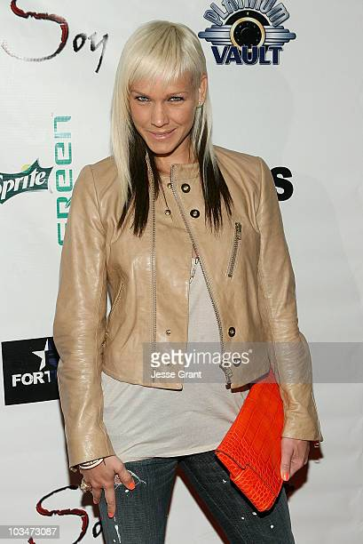 April Roomet attends the Mims 'Guilt' album release party held at Club Sushi on April 17 2008 in Hollywood California