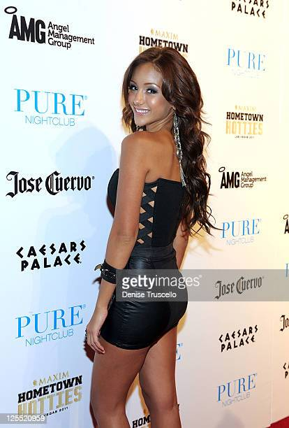 April Rose arrives at Maxim's 2011 Hometown Hotties finalists party presented by Jose Cuervo at Pure Nightclub in Caesars Palace Hotel and Casino on...