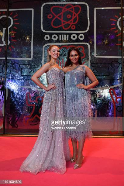 April Rose Pengilly and Sharon Johal attend the NGV Gala 2019 at the National Gallery of Victoria on November 30 2019 in Melbourne Australia