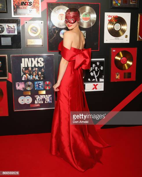 April Rose Pengilly arrives ahead of the INXS Masquerade Party at State Theatre on October 26 2017 in Sydney Australia