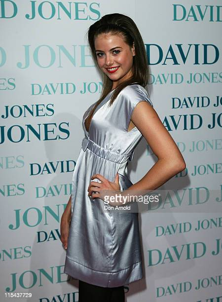 April Rose Pengilly arrives at the David Jones Winter 2008 Collection Launch 'A Japanese Story' at the Royal Hall of Industries Moore Park on...