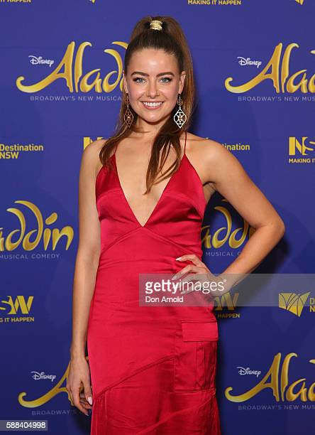 April Rose Pengilly arrives at the Opening Night of Aladdin at State Theatre on August 11 2016 in Sydney Australia