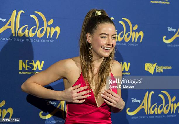 April Rose Pengilly arrives at the Opening Night of Disney's Aladdin at the Capitol Theatre on August 11 2016 in Sydney Australia
