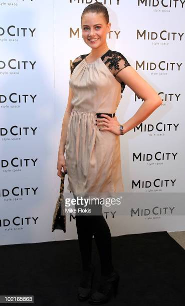 April Rose Pengilly arrives at the Pitt Street 'Style Space' VIP event at MidCity Centre on June 17 2010 in Sydney Australia