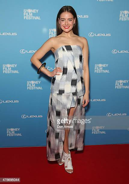 April Rose Pengilly arrives at the Sydney Film Festival Opening Night Gala at the State Theatre on June 3 2015 in Sydney Australia