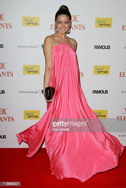 April Rose Pengilly arrives at the 'Water for Elephants' Sydney Premiere at the State Theatre on May 6 2011 in Sydney Australia