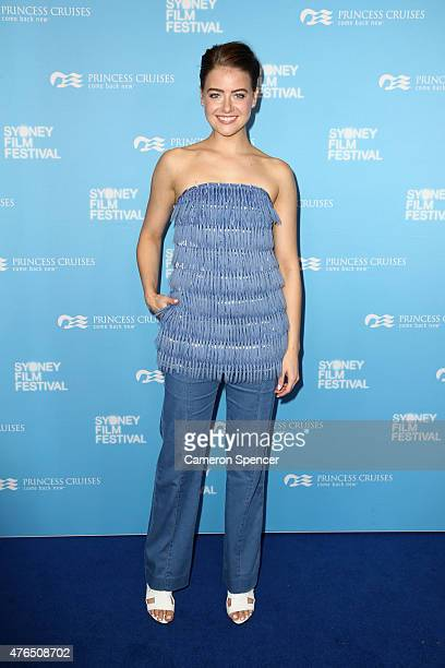 April Rose Pengilly arrives at the' Women He's Undressed' world premiere at the Overseas Passenger Terminal on June 10 2015 in Sydney Australia