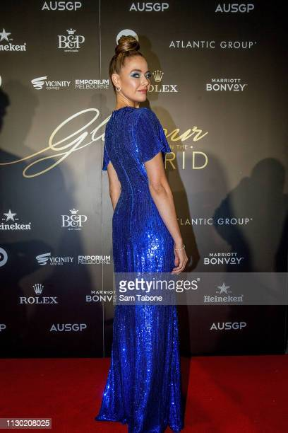 April Rose Pengilly attends the Glamour on the Grid party at Albert Park on March 13 2019 in Melbourne Australia