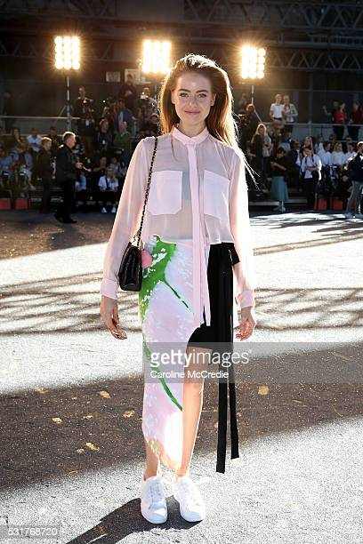 April Rose Pengilly attends the Manning Cartell show at MercedesBenz Fashion Week Resort 17 Collections at Bradfield Plaza on May 17 2016 in Sydney...