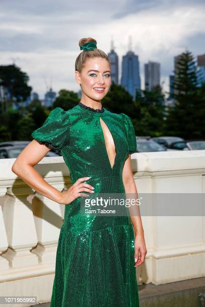 April Rose Pengilly attends the Melbourne Fashion Festival Program and Campaign Launch at Government House on December 12, 2018 in Melbourne,...