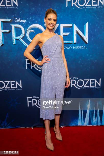 April Rose Pengilly attends the Melbourne premiere of Frozen The Musical at Her Majesty's Theatre on July 14, 2021 in Melbourne, Australia.