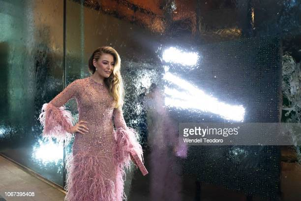 April Rose Pengilly attends the NGV Gala 2018 at National Gallery of Victoria on December 1 2018 in Melbourne Australia