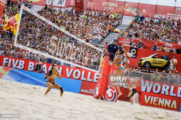 April Ross of the United States in action during Day 9 of the FIVB Beach Volleyball World Championships 2017 on August 5 2017 in Vienna Austria