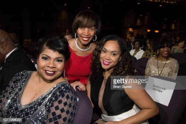 April Ryan Baltimore mayor Catherine Pugh and Marilyn Mosby attend 2018 Urban One Honors at The Anthem on December 9 2018 in Washington DC
