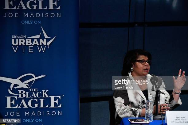 April Ryan White House correspondent for the American Urban Radio Network appears on SiriusXM's Joe Madison show on Urban View A Roundtable Of...