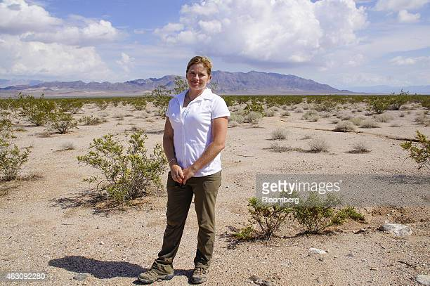 April Sall director of the Wildlands Conservancy stands for a photograph in the Mojave Desert near Amboy Crater National Natural Landmark in San...