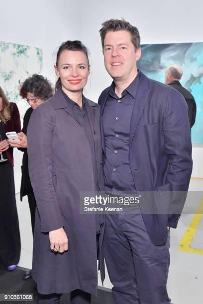 April Street and Philipp Kaiser at OPENING NIGHT   ART LOS ANGELES CONTEMPORARY 9TH EDITION at Barkar Hangar on January 25 2018 in Santa Monica...