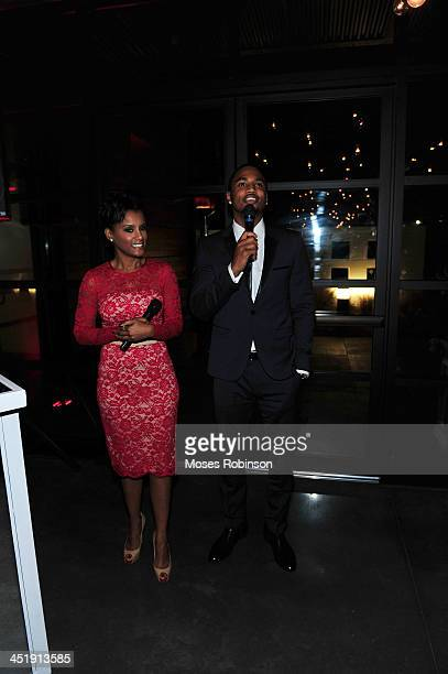 April Tucker with her son recording artist Trey Songz attend his Birthday And Host Evening Benefitting 'Angels With Heart Foundation Month' at Le...