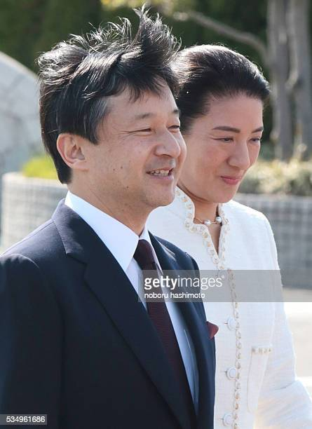 April28/2013/Noboru Hashimoto/Tokyo/Japan Jampanese Crown Prince Naruhito and Princess Masako leave Japan to atttend at Netherlands King enthronement...