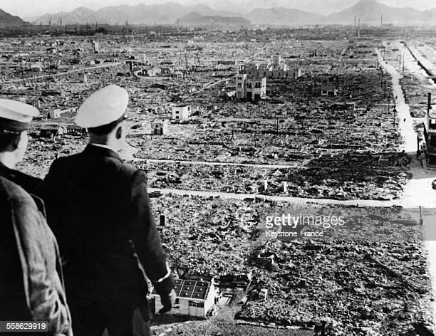 Après le bombardement à Hiroshima Japon le 6 août 1945