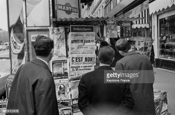 Après le succès du non au référendum sur la réforme du sénat et la régionalisation le général Charles de Gaulle démissionne de sa fonction de...