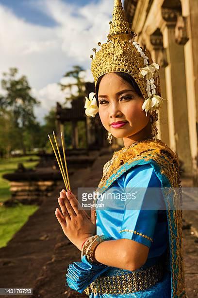 Apsara Tänzerin in Angkor Wat