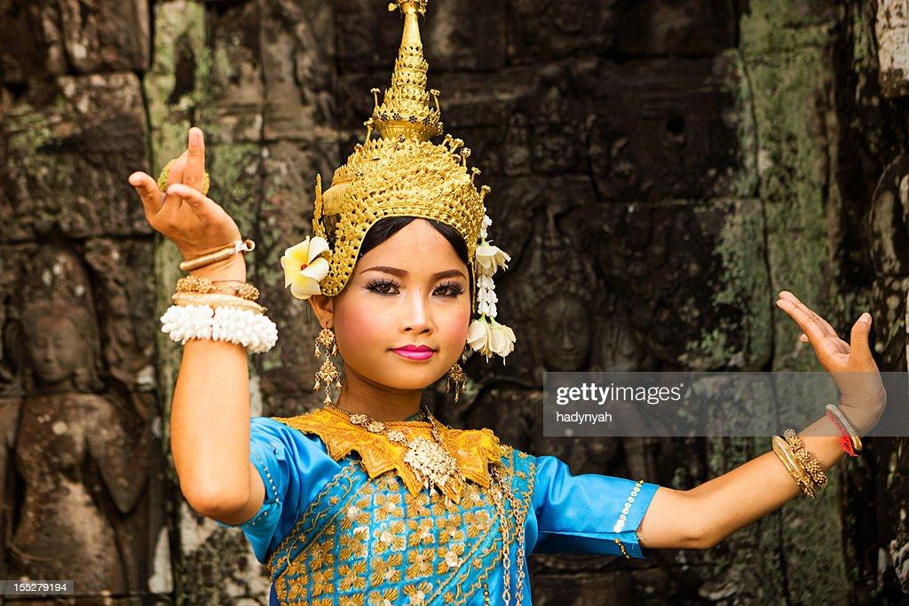 Apsara Dancer at Angkor Wat : Stock Photo