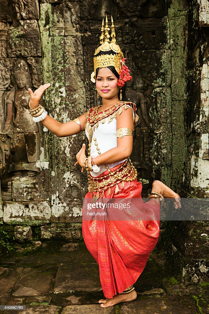 Apsara Dancer at Angkor Wat : Stock Photo