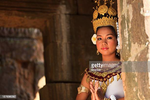 apsara dancer - cambodia stock pictures, royalty-free photos & images