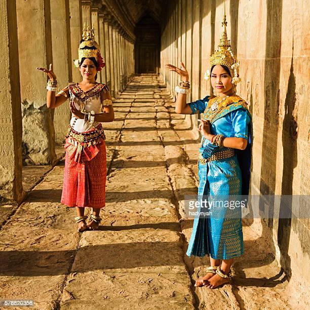 Apsara Dancers at Angkor Wat during sunset, Cambodia