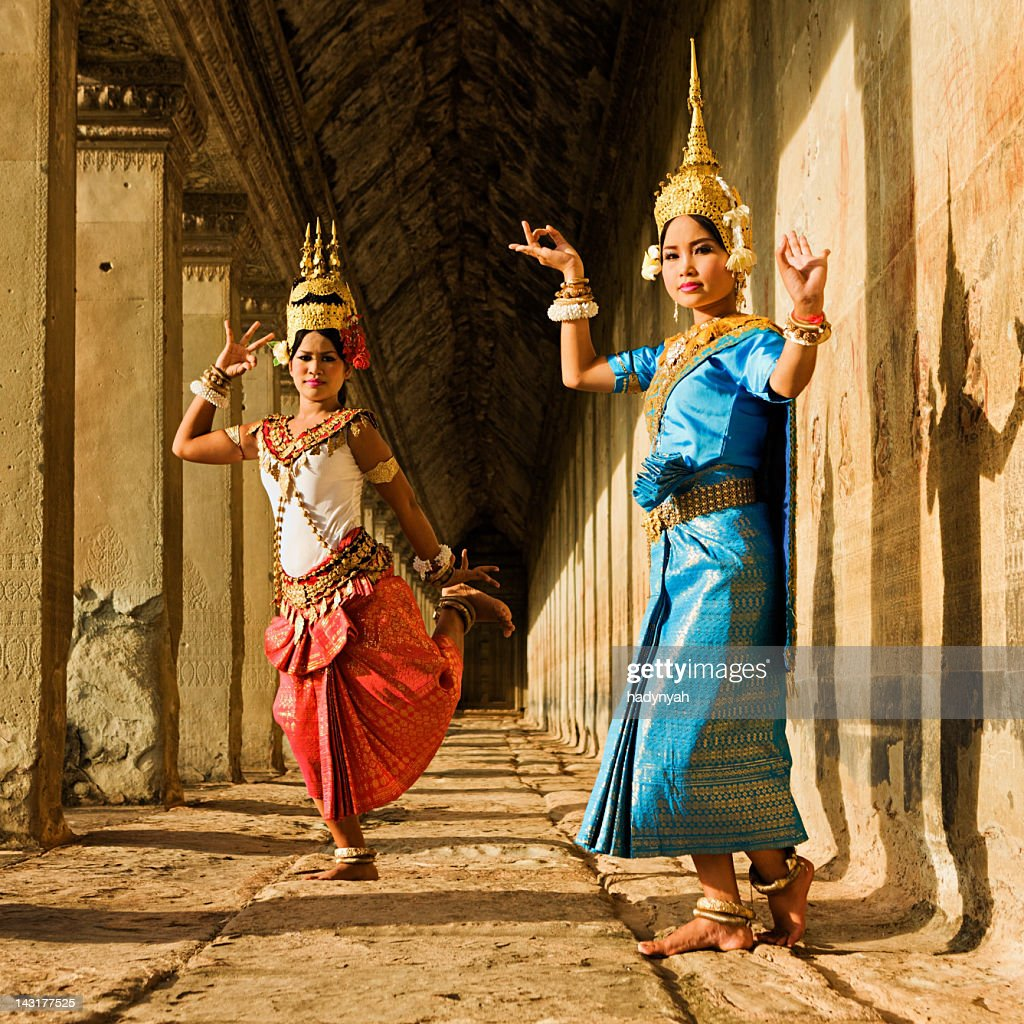 Apsara Dancers at Angkor Wat : Stock Photo