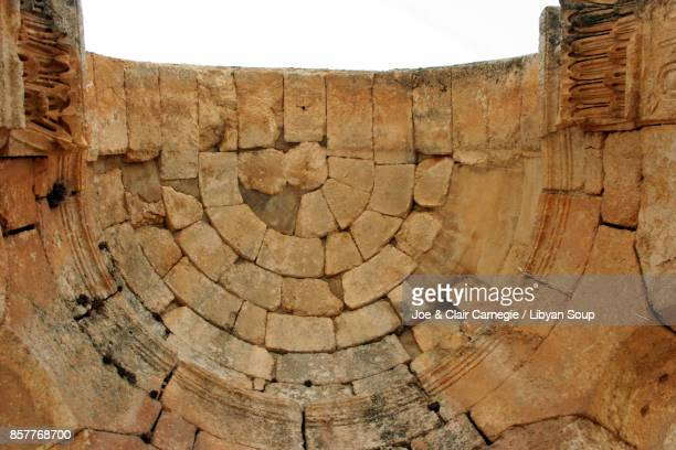 apse ceiling at the church of saint simeon stylites, syria. - apse stock photos and pictures