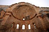 Apse in the East Basilica, Church of Saint Simeon Stylites, Syria.